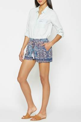 Joie Patterned Silk Shorts