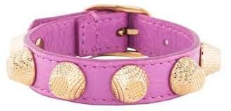 Balenciaga Leather Stud Bracelet