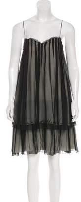 CNC Costume National Strapless Silk Dress