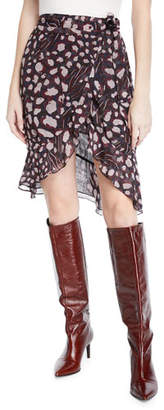 IRO Lingo Printed High-Waist Wrap Skirt