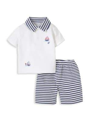Kissy Kissy Baby's Two-Piece Bermuda Shorts Set