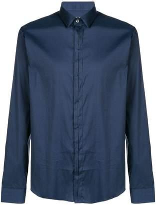 Les Hommes Urban concealed fastening shirt