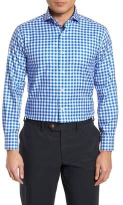 Lorenzo Uomo Trim Fit Gingham Dress Shirt