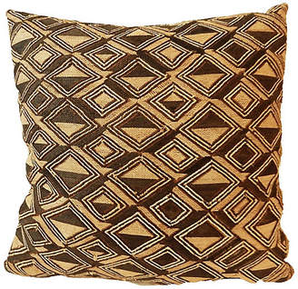 One Kings Lane Vintage African Kuba Textile Pillow