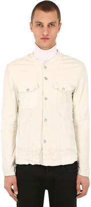 Giorgio Brato Leather Shirt Jacket