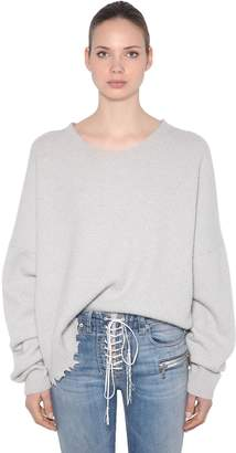 Unravel Oversized Wool & Cashmere Knit Sweater