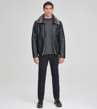 Andrew Marc LENOX FAUX LEATHER JACKET