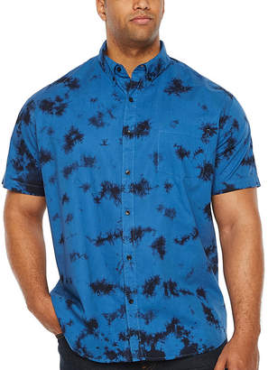 Co THE FOUNDRY SUPPLY The Foundry Big & Tall Supply Short Sleeve Tie Dye Button-Front Shirt-Big and Tall