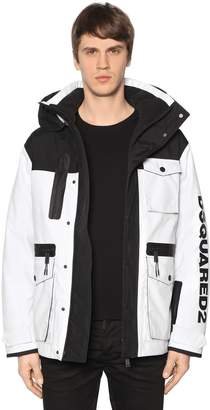 DSQUARED2 Hooded Nylon Bomber Jacket