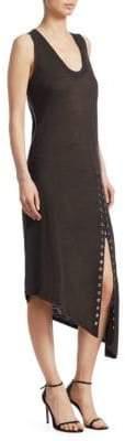IRO Karossi Lace-Up Slit Midi Dress