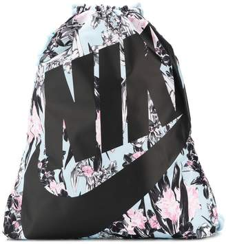 Nike logo drawstring backpack