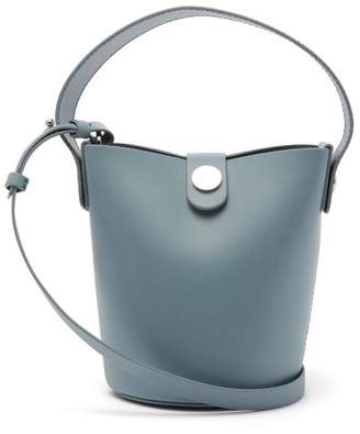 Sophie Hulme Nano Swing Leather Bucket Bag - Womens - Blue