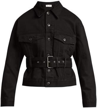 PSWL Belted cotton-denim jacket