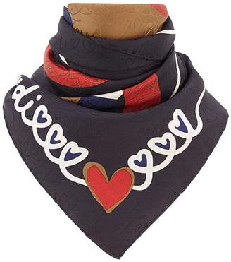 Fendi logo foulard square scarf