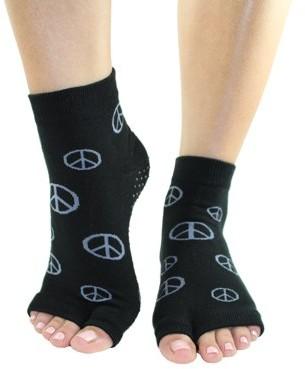 Toezies Peace Sign Tabi Toe-less Grip Socks (M/L)