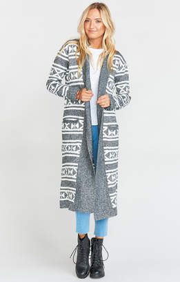 Show Me Your Mumu Trench Cardigan ~ Nordic Knit