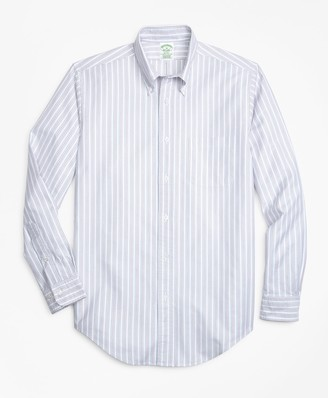 Brooks Brothers Milano Fit Oxford Double-Stripe Sport Shirt