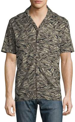 Antony Morato Camo Feather Short-Sleeve Sport Shirt