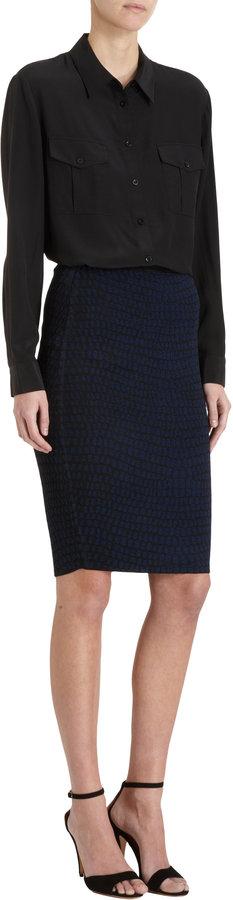 Ohne Titel Croc Knit Pencil Skirt