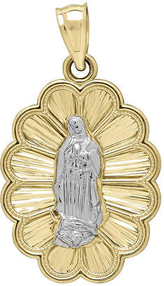 FINE JEWELRY Tesoro 14K Two-Tone Gold Lady of Guadalupe Medallion Pendant