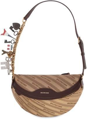 Balenciaga Jacquard & Leather Belt Pack W/ Charms