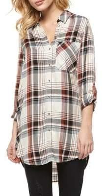 Dex Plaid-Print Long-Sleeve Tunic