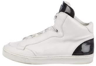 Louis Vuitton Damier High-Top Sneakers