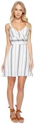 J.o.a. Tie Front Fit Flare Dress Women's Dress