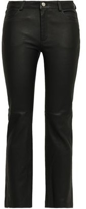 Anine Bing Stretch-leather Straight-leg Pants