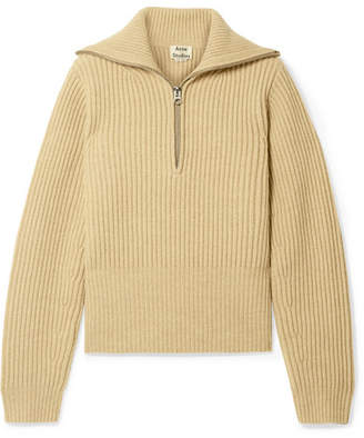 Acne Studios Karolyn Ribbed Wool Sweater - Beige