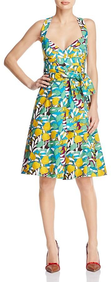 Paule KaPAULE KA Printed Tie-Detail Dress