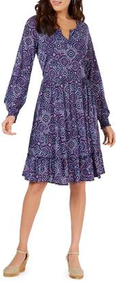 Style&Co. Style & Co. Petite Printed Fit--Flare Dress