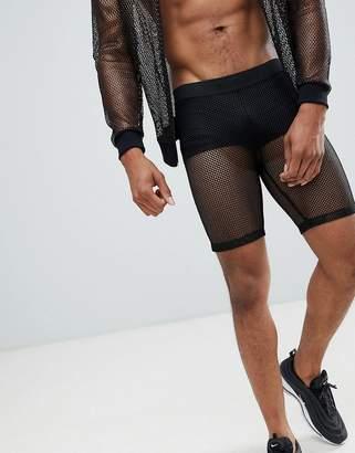 Asos DESIGN festival megging shorts in mesh