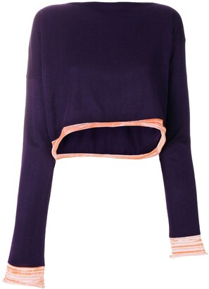Comme des Garcons Pre-Owned 1991 asymmetric knitted blouse