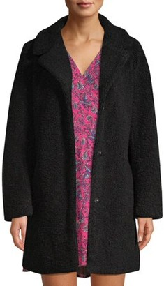 Scoop Teddy Faux Fur Overcoat Women's