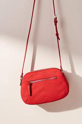 Anthropologie Chevron-Stitched Crossbody Bag