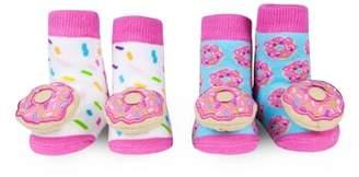 Waddle 2-Pack Donut Rattle Socks