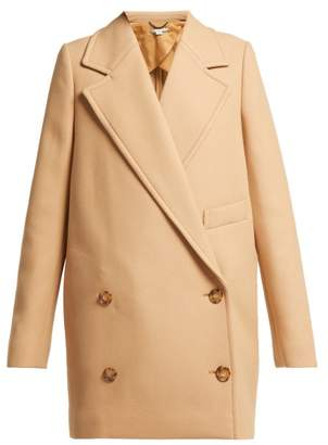 Stella McCartney Double Breasted Wool Twill Peacoat - Womens - Camel