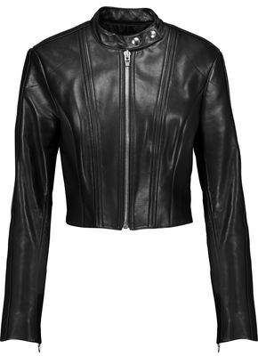 Alexander Wang Cropped Leather Jacket