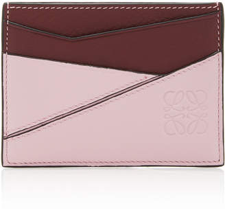 Loewe Puzzle Two-Tone Leather Card Holder