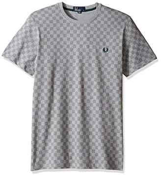 Fred Perry Men's French Chequerboard Print T-Shirt