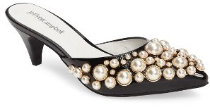 Jeffrey CampbellWomen's Jeffrey Campbell Jena Imitation Pearl Embellished Sandal