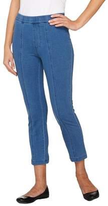 Isaac Mizrahi Live! Knit Denim Crop Jeans w/ Seam Detail