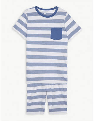 The Little White Company Breton stripe cotton pyjamas 7-12 years