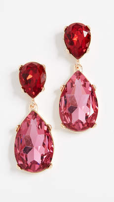 Kenneth Jay Lane Double Teardrop Earrings