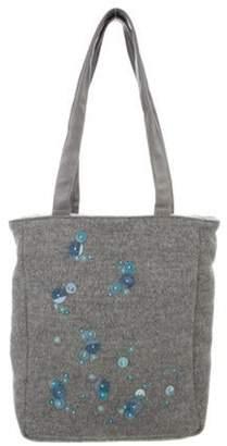 Bottega Veneta Wool Embellished Bag Grey Wool Embellished Bag