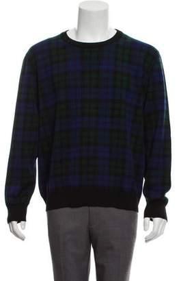Christian Dior Virgin Wool Plaid Sweater w/ Tags