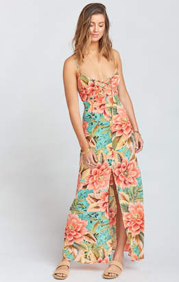Show Me Your Mumu Leyton Lace Up Maxi ~ Johnny and the Band Pebble