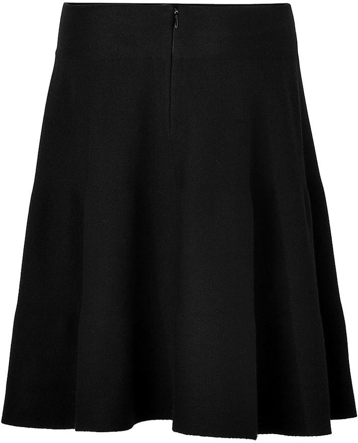 Donna Karan Wool Skirt in Black