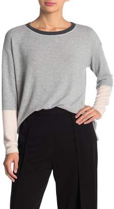 Michael Stars Boatneck Colorblock Sweater